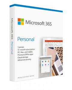 Microsoft 365 Personal (PC/Mac)- 1 User-1 Year