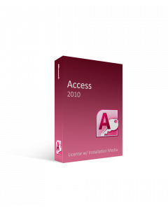 Microsoft Access 2010 License w/ Installation Media